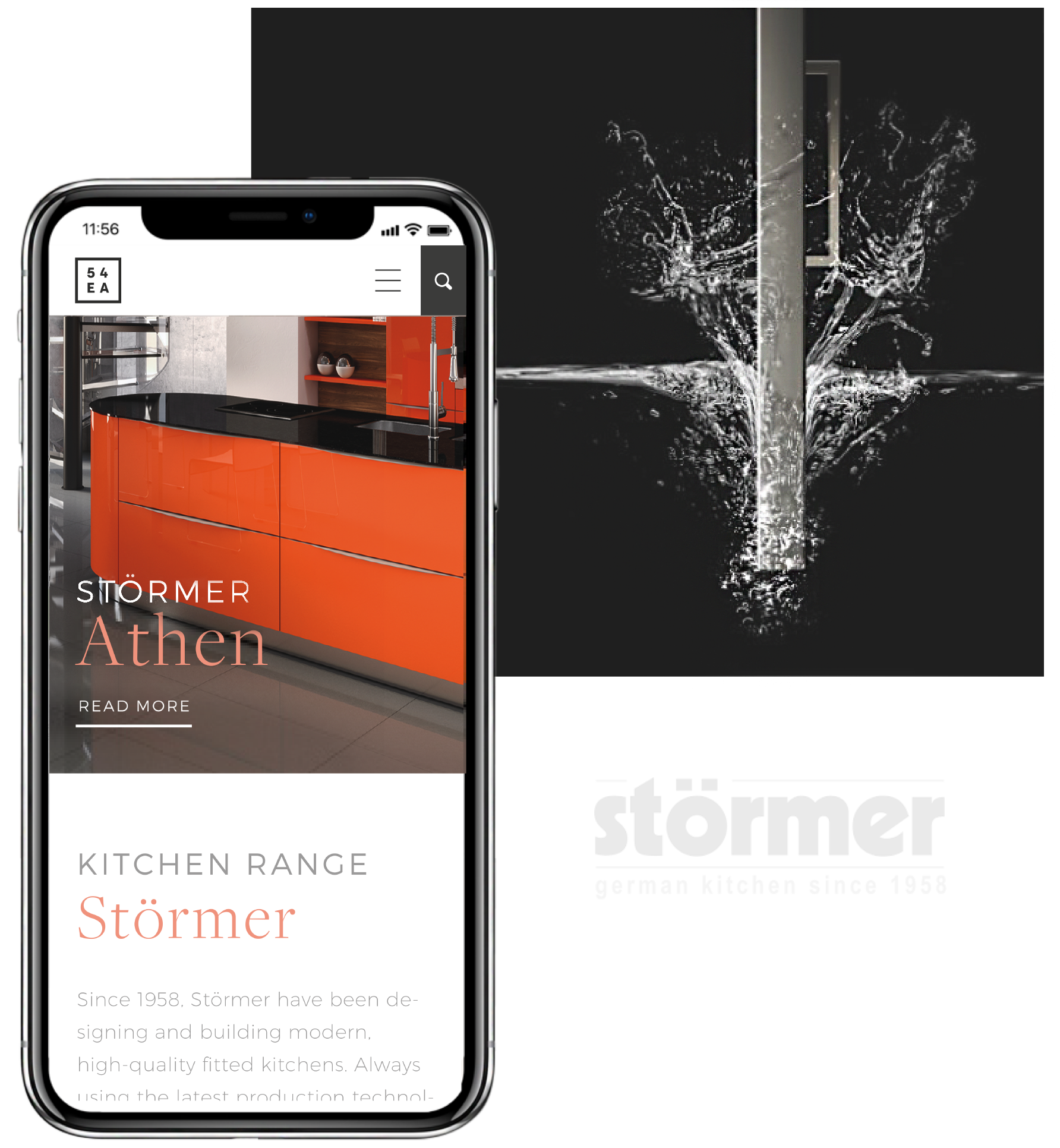 54EA Interiors Stormer Kitchen Range