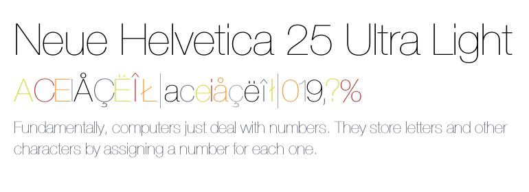 thin font design